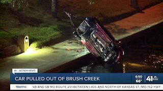 Car pulled out of Brush Creek