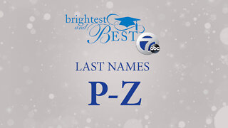 Honoring the Brightest and Best – last names P-Z