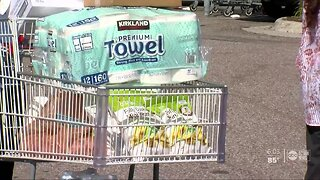 Long lines at Tampa Bay stores for essential household items