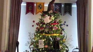 If you're a fan of Harry Potter this Christmas tree is for you!