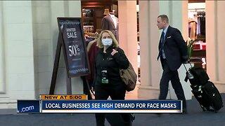 Businesses see high demand for face masks in light of coronavirus news