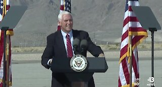 Vice President Mike Pence appears in Boulder City