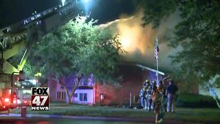 Firefighter injured battling apartment fire