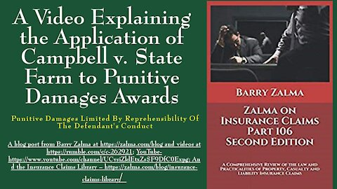 A Video Explaining the Application of Campbell v. State Farm to Punitive Damages Awards