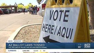 Arizona ballot laws tossed