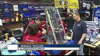 High schoolers compete at FIRST Idaho regional robotics competition