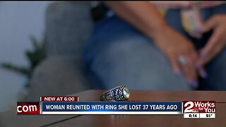 Woman reunited with ring she lost 37 years ago