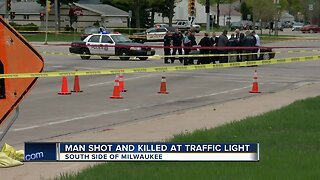 Man shot and killed at traffic light in Milwaukee