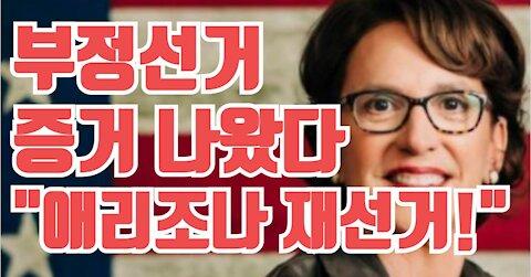 """애리조나 부정선거 증거 나왔다!! """"재선거 요구!"""""""