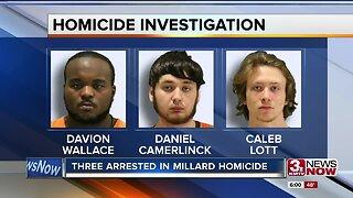 Three arrested in Millard homicide