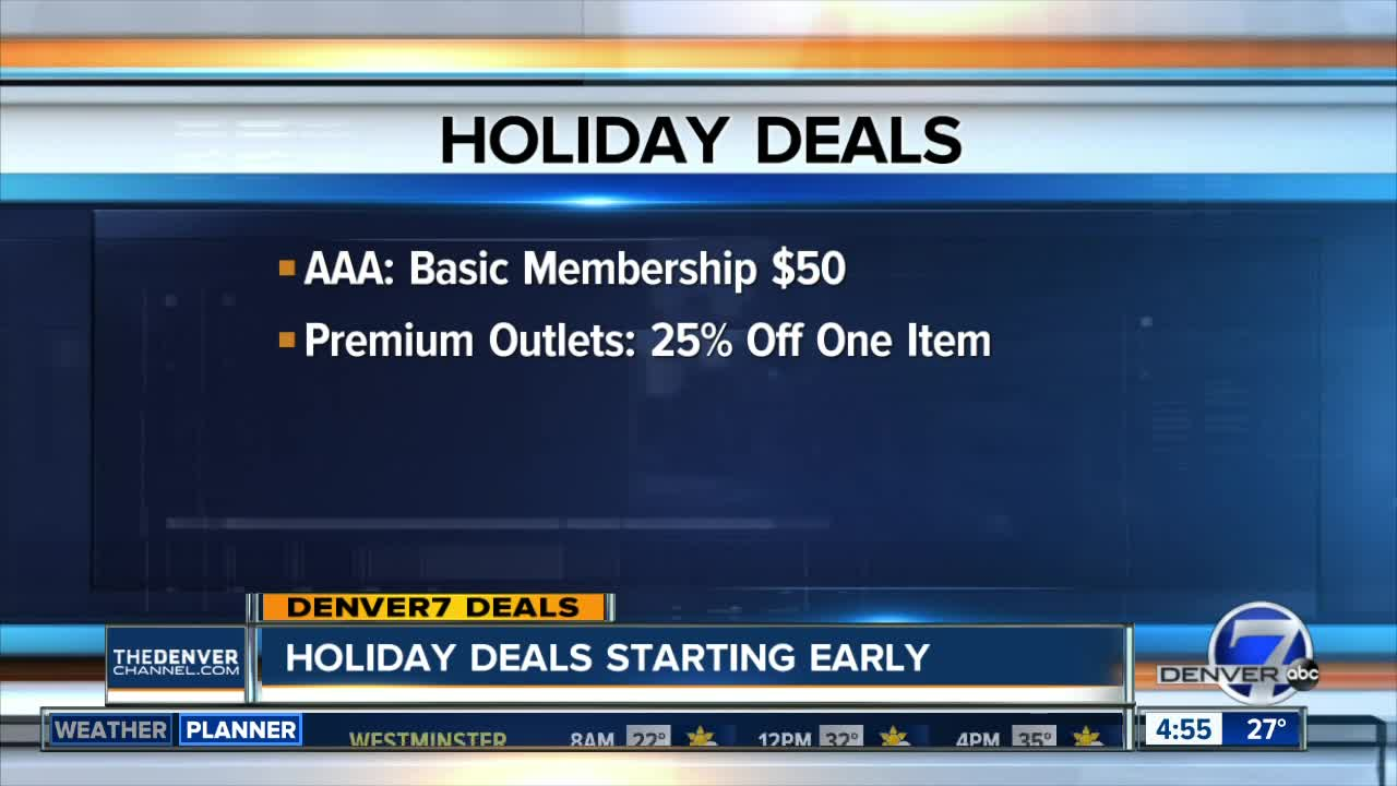 Holiday deals starting early