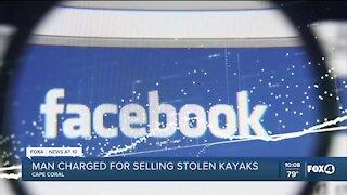 Man attempts to sell stolen kayaks online