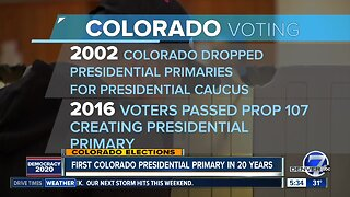 Colorado changing from Presidential caucasus to primaries