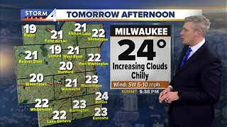 Increasing clouds and chilly Thursday