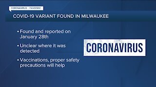 UK variant of COVID-19 reported in Milwaukee