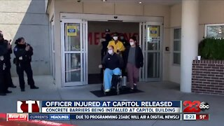 Officer injured at Capitol released from hospital