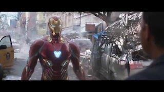 AVENGERS INFINITY WAR Iron Man Dr. Strange and Wong Battle in New York HD
