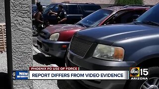 Phoenix police report differs from witness videos of viral incident