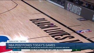 NBA postpones game as Bucks protest against police brutality, racial injustice