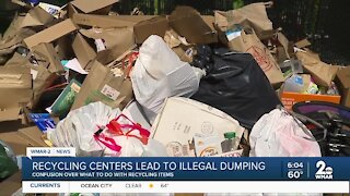 Recycling centers lead to illegal dumping