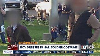 Boy dresses in Nazi soldier costume