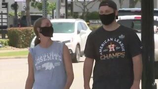 Wearing masks in the summer heat