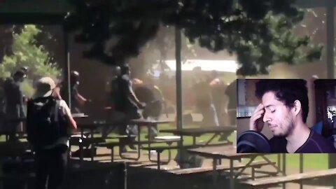 Near Portland, Antifa and Proud Boys Get Into Fight!