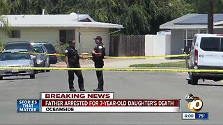 Father arrested on suspicion of killing 7-year-old daughter
