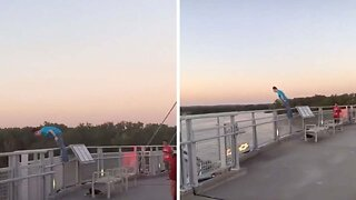 Touching Video Shows Man Stopping Woman About To Jump From Bridge