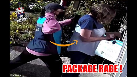 AMAZON DRIVER, 21,TELLS WOMAN, 67, TO CHECK HER 'WHITE PRIVILEGE' THEN BEATS HER !