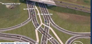 2 major Oakland County roads getting diverging diamond intersections at I-75
