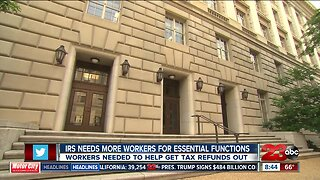 IRS needs more workers for essential functions