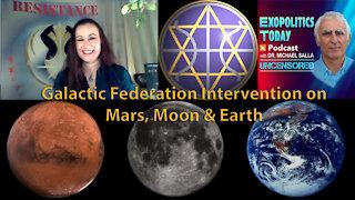 Galactic Federation Intervention on Mars, Moon & Earth