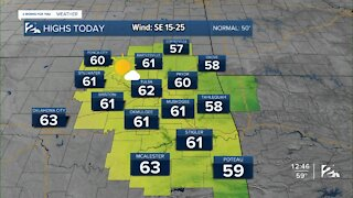 Warm and Windy Wednesday Afternoon