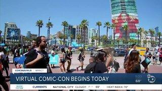 Virtual Comic-Con begins today