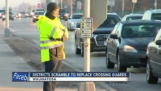 School districts scramble to replace crossing guards
