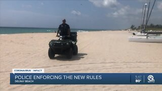 Delray Beach police patrol beach to enforce restrictions