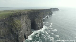 Cliffs of Moher in Ireland brilliantly captured with drone footage