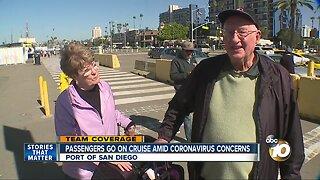 Passengers board cruise ship amid Coronavirus concerns