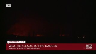 Bush Fire sparked off Beeline highway