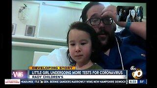 Child returns to hospital for further coronavirus tests