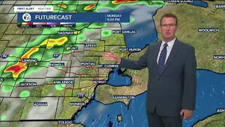 Storm chance by Monday afternoon