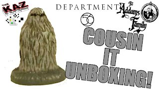 Cousin It Addams Family Department 56 Figurine Unboxing