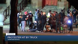 Buffalo police: protester struck by vehicle in Niagara Square