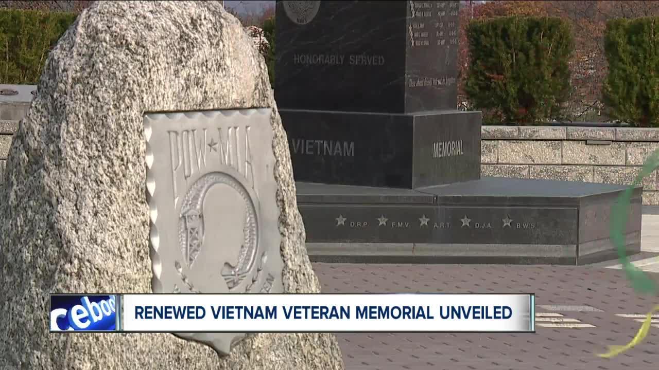 Renewed Vietnam Veteran Memorial unveiled