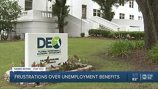 Frustrations over unemployment benefits in the Tampa Bay area