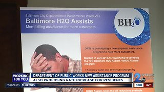 Water rates could rise in Baltimore 5PM