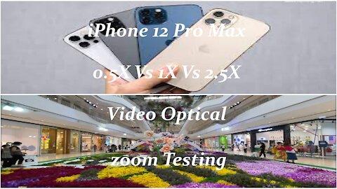 iPhone 12 Pro Max 0 5X Vs 1X Vs 2 5X Video Optical zoom Testing