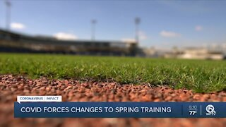 Coronavirus forces changes to Major League Baseball spring training in Florida