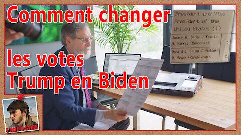 2021/049 Démonstration machine à voter - Comment changer les votes Trump en votes Biden